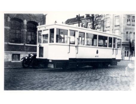 Tram van de lijn Gent-Geraardsbergen, Gent, 1932.