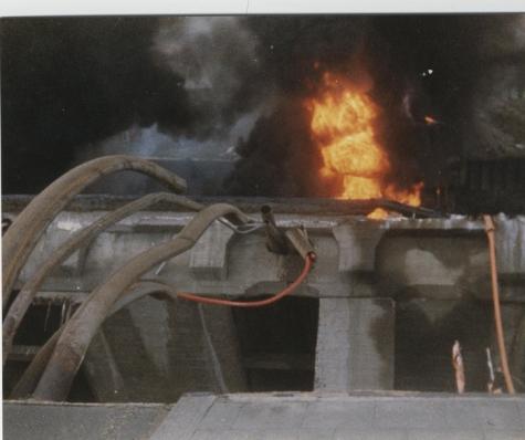 Detail ingestorte brug, Melle, 1992