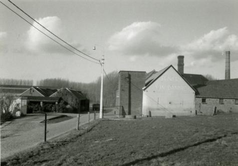 Stokerij Van Damme, Balegem, zicht van de straatkant, ca. 1980