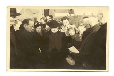 Verwelkoming nieuwe pastoor te Balegem, 1952