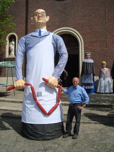Mondje Wollaert en zijn maker, Merelbeke, 2013