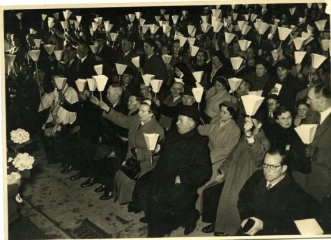 Kaarskensprocessie, Munte, jaren 1950
