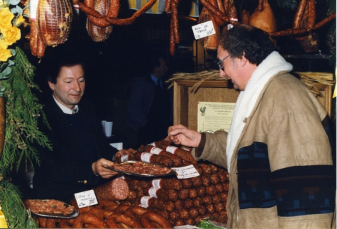 Themastand Waalse landbouw, vleeswaren, Sint-Lievens-Houtem, 1996