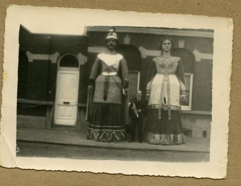 Koppel reuzen, Melle, 1950-1970
