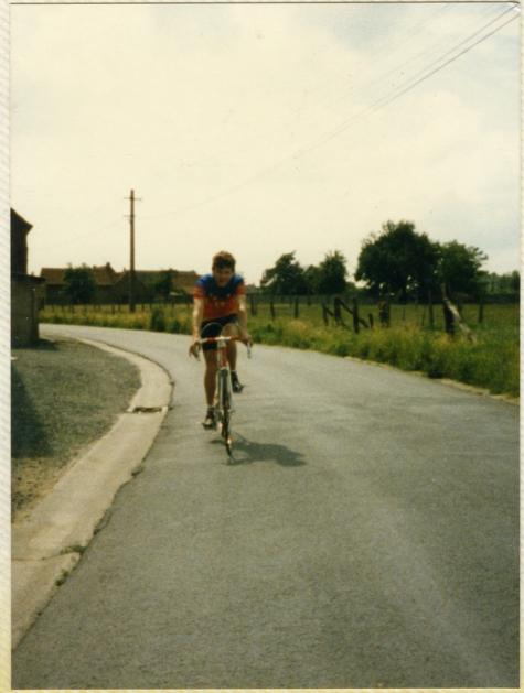 Met de koersfiets onderweg, Letterhoutem, 1982