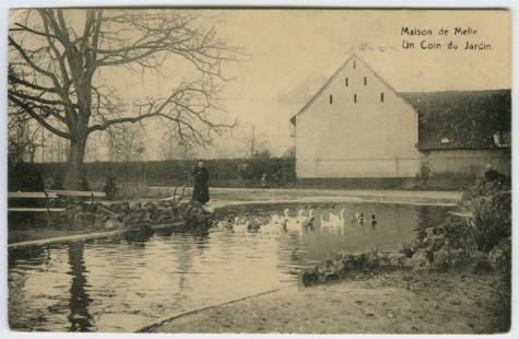 Hoekje van de tuin van het college te Melle in 1912