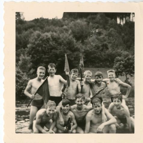 Chiro Melle, vlaggenroof, Bioul, 1961