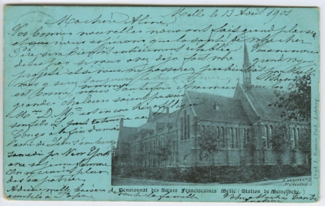Pensionaat, Zusters St Franciscus, Melle, 1901