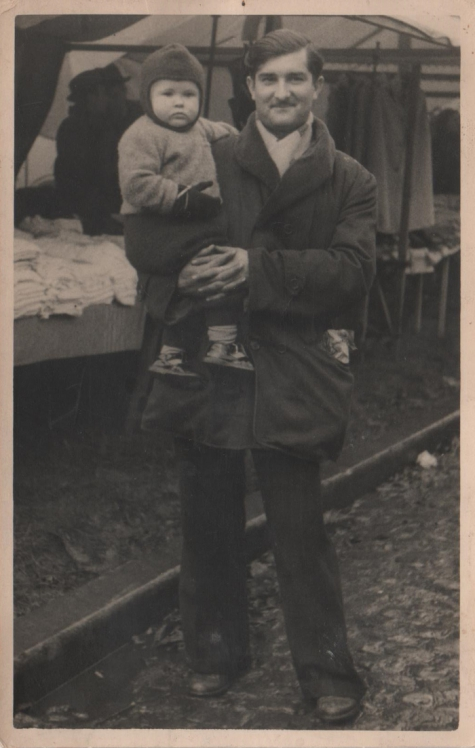Michel Lefevre op Houtem Jaarmarkt, 1952
