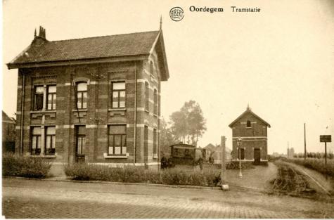 Tramstatie, Oordegem, ca.1921