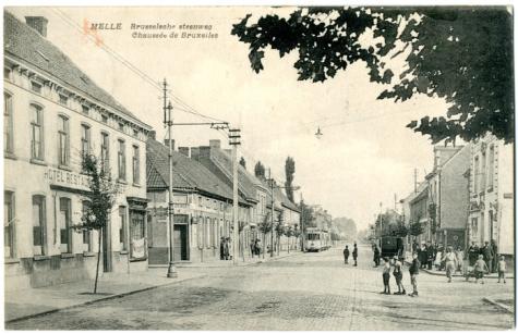 Tram van de lijn Melle-Gentbrugge, Melle,1919.