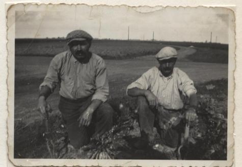 Seizoenarbeiders op het veld in Frankrijk, 1936-1937