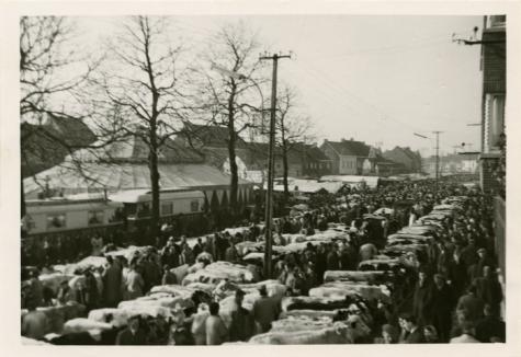 Houtem Jaarmarkt met circustent, Sint-Lievens-Houtem, 1940-1962