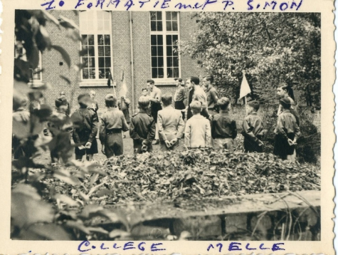 Openingsformatie chiro Melle, College Melle, 1951