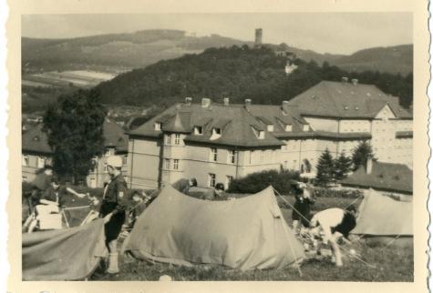 Chiro Melle zet kamp op in Duitsland, 1955