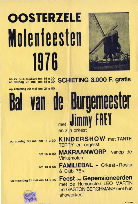 Affiche Molenfeesten, Oosterzele, 1976