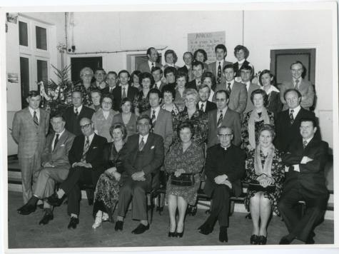 Nieuwjaarsreceptie gemeentehuis Oosterzele, 1970-1976