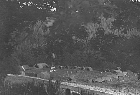 Overzicht kampterrein chiro Melle, Manderfeld, 1973