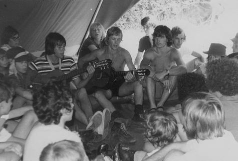 Bezoekdag op kamp chiro Melle, Manderfeld, 1973