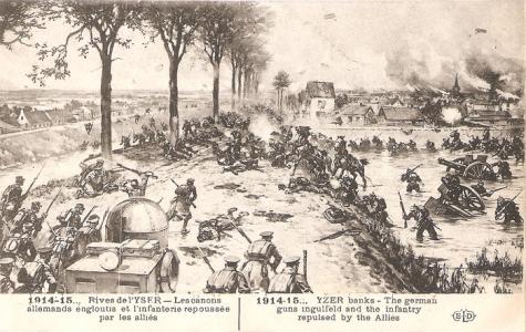 Duitsers verdreven bij Slag om de IJzer 1914