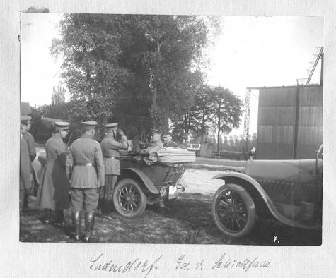 Generaal Ludendorf op bezoek in Gontrode, 1917