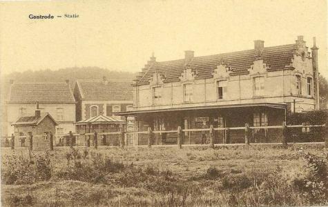 Het station van Gontrode aan het eind van de 19de eeuw