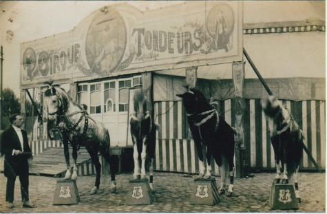 Joseph Tondeurs en zijn paarden, Sint-Lievens-Houtem, 1928
