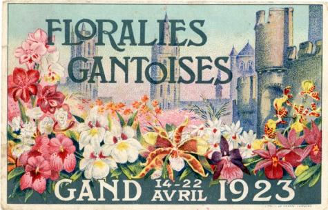 Prentkaart Genste Floraliën, Gent, 1923