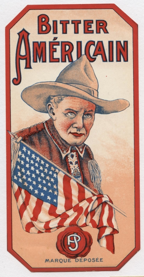 Etiket 'bitter Americain', Sint-Lievens-Houtem, 1930-1969