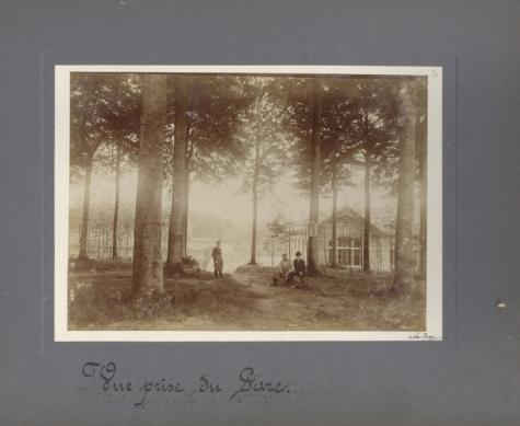 Zicht op het park, Caritasinstituut, Melle, 1910-1915