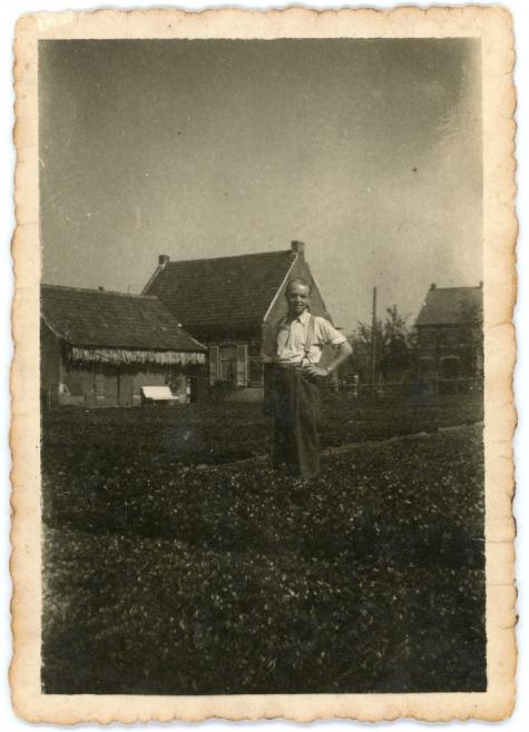 Postkaart van siertuin van paviljoen op PC Caritas, Melle, 1910-1913.