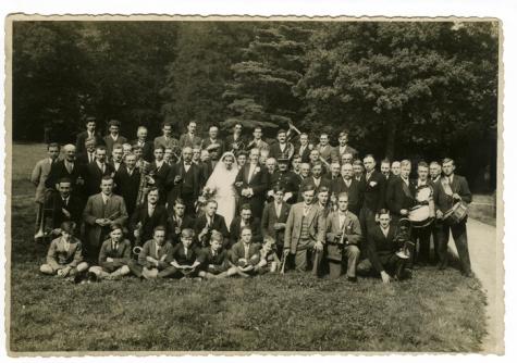 Harmonie Heusden op huwelijk Robert Stas de Richelle en Solange Kervyn d'Oud Mooreghem, Heusden, 1932