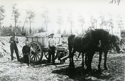 Bouwwerken aan kerkhof, Merelbeke