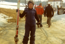 Schepen Bertrand Vrijens als 12-jarige op skivakantie in Ramsau, Oostenrijk, 1976