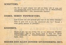 Affiche van het Vlaams Feest, Oosterzele, 1960