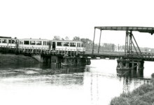 Tram van de lijn Gent-Geraardsbergen, Zwijnaarde, 1950.