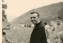 Chiro Melle, proost E.H Verhaeghe, kamp Maboge, 1961