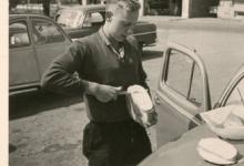 Chiro Melle, boterhammen snijden, Ardennen, 1962