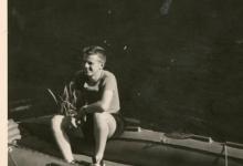 Chiro Melle, in de rubberboot, Frahan, Ardennen, 1962