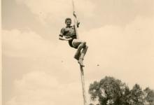 Chiro Melle, mastklimmen, Kruisstraat Melle, 1965?