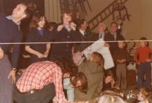 Spel op groepsfeest chiro Geertrui, Melle, 1975-1979