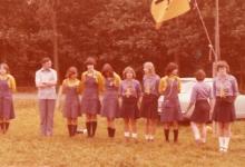 Leidsters chiro Geertrui op kamp, 1975-1979