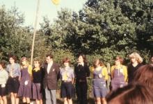 Chiro Geertrui in openingsformatie op kamp, 1975-1979