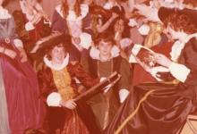 Leidsters chiro Geertrui op 'Rubensbal', Melle, 1977