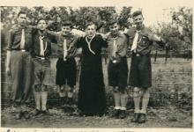Chiroleiding op kamp, Egenhoven, 1950