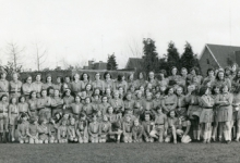 Groepsfoto chiro Geertrui, Melle, 1974