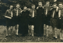 Het leiderskorps van chiro Melle, 1956
