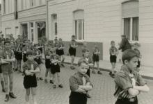 De Chiro in de processie, Melle, 1965- 1969.