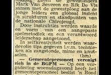 Krantenartikel over de inleidingsbivak chirojongens, Melle, 1972