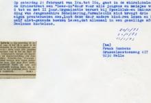 Krantenartikel 'Lees-in' chiro Scheldering, Melle, 1973